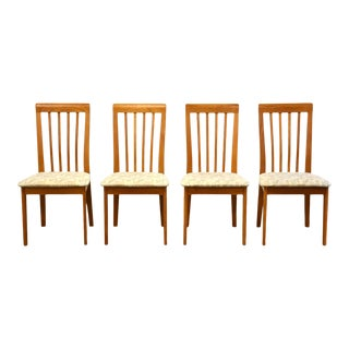 Teak Modern Dining Chairs- Set of 4 For Sale