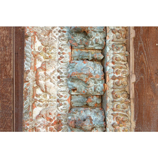 Stunning Tribal Architectural Carved Beam For Sale In Los Angeles - Image 6 of 12