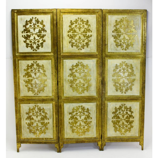 Vintage Florentine 3 Panel Screen - Image 6 of 11