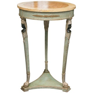 Empire Style Table With Sphinx Supports Side Table For Sale