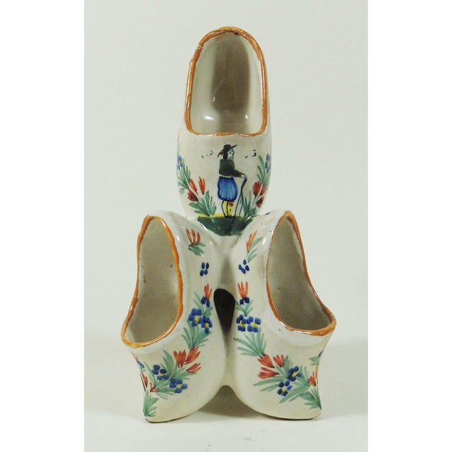 French Faience Quimper Clogs Vase - Image 2 of 4
