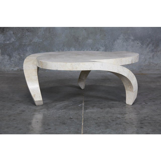 """Contemporary 1990s Post-Modern Tessellated Cantor Stone """"Hurricane"""" Coffee Table For Sale - Image 3 of 10"""