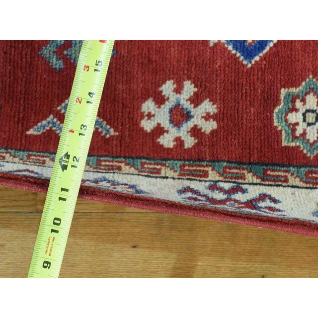 Islamic Wool Handmade Tribal Design Kazak Runner- 2′8″ × 9′9″ For Sale - Image 3 of 12
