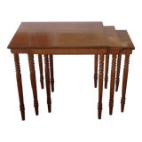 Image of Mid Century Modern Solid Rock Maple Conant Ball Nesting Tables For Sale