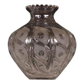 Bohemin Crystal Flower Vase For Sale