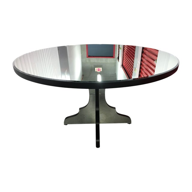 Round Beveled Mirror Dining/Entryway Table - Image 1 of 11