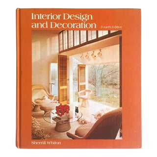 """ Interior Design & Decoration "" Vintage 1974 Large Volume Design Survey Hardcover Book For Sale"