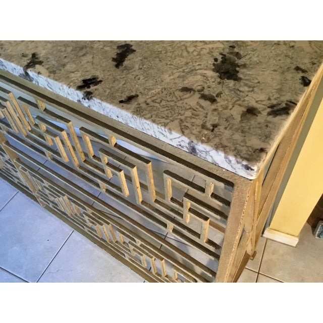 Metal Neoclassical Iron Console For Sale - Image 7 of 11