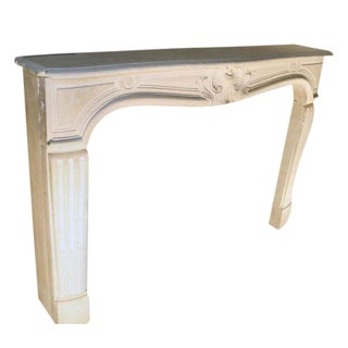 French Country Limestone Mantel For Sale