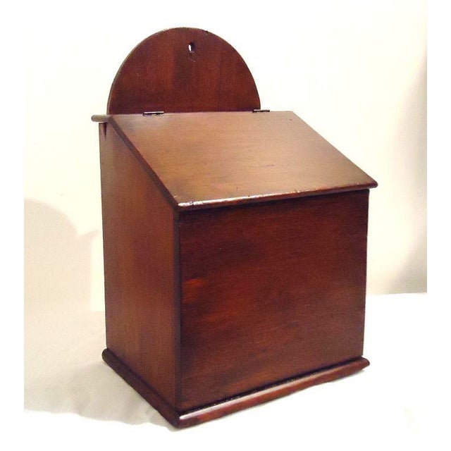 This wonderful handmade walnut wall box has a hinged lift top and is in great condition. This oversize box could be used...