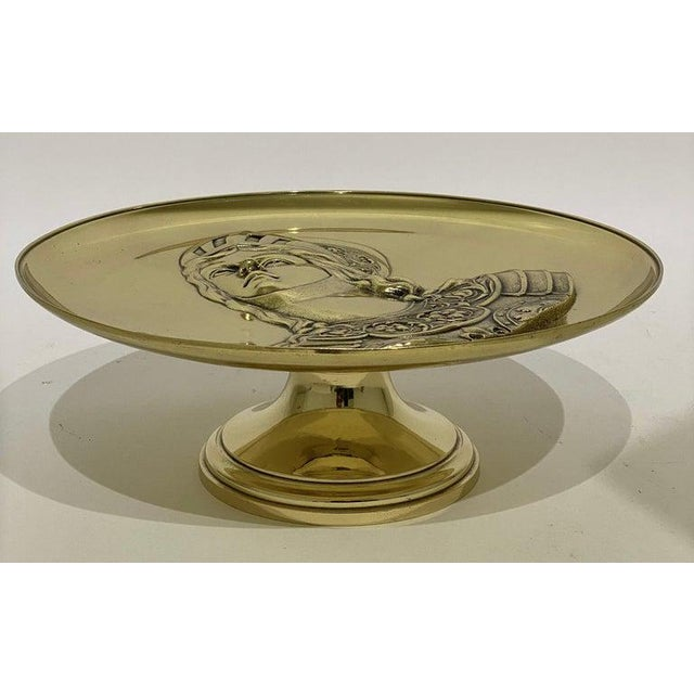 """Antique 19c """"Joan of Arc"""" Bas Relief Tazza Compote Dish Bronze For Sale - Image 13 of 13"""