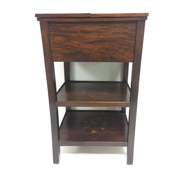 Late 19th Century Antique Marquetry Inlaid Dressing Table For Sale - Image 5 of 13