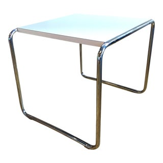 White Laccio Side Table by Marcel Breuer for Knoll Studios For Sale