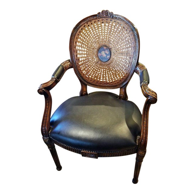 French Bergere Chair by Theodore Alexander For Sale