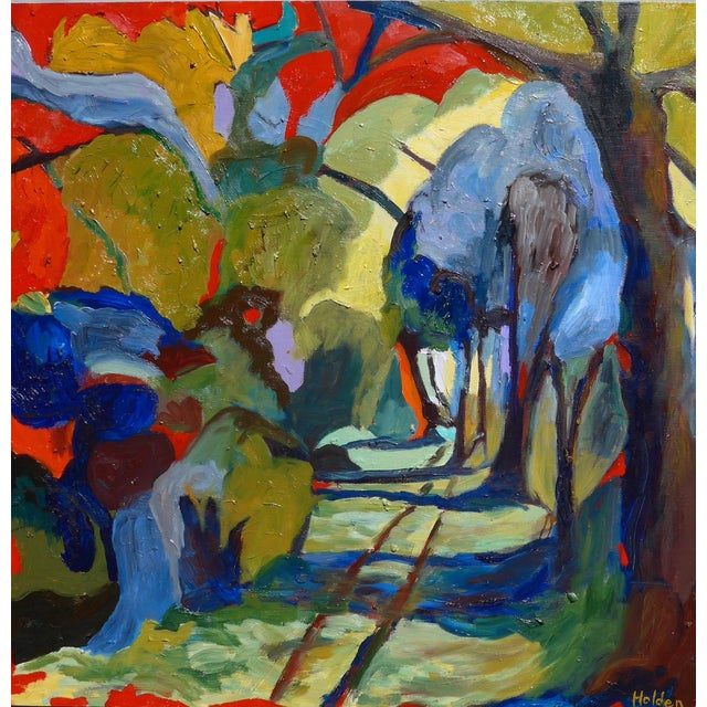Abstract Painting, Path in the Woods For Sale In Los Angeles - Image 6 of 10