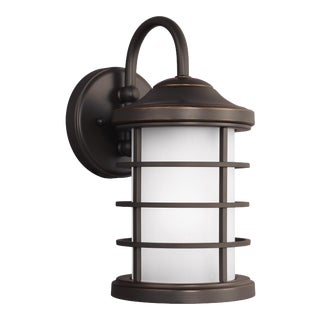 Blanche Small One Light Outdoor Wall Lantern, Bronze For Sale