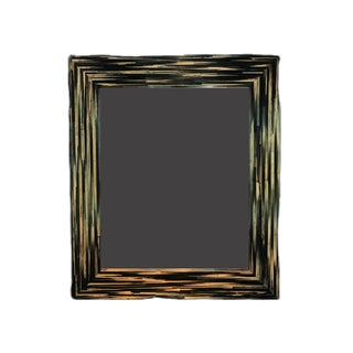 Contemporary Straw Marquetry Mirror For Sale