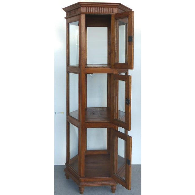 Antique Hexagonal Display Cabinet - Image 3 of 10