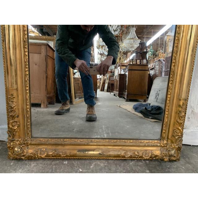 18th Century Ornate French Louis Philippe Style Mirror For Sale - Image 9 of 13