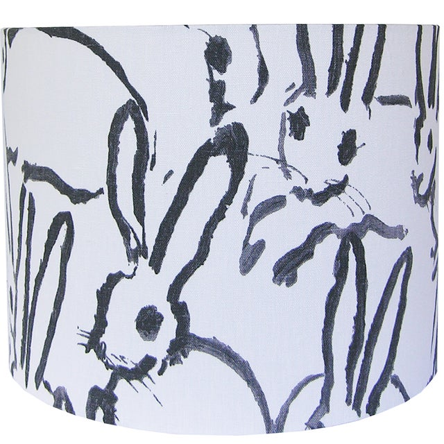 Contemporary Black and Ivory White Rabbit Lamp Shade For Sale - Image 3 of 4