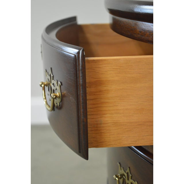 Madison Furniture Madison Square Demilune Chippendale Chest of Drawers For Sale - Image 4 of 13