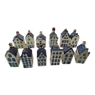 Delft Blue Flight Souvenirs - Set of 12 For Sale