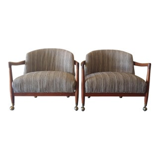 1950s Folke Ohlsson for Dux Club Chairs - a Pair For Sale