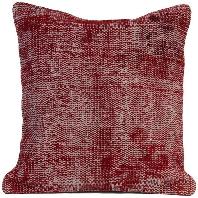 Vintage Red Overdyed Pillow Cover - Image 7 of 7