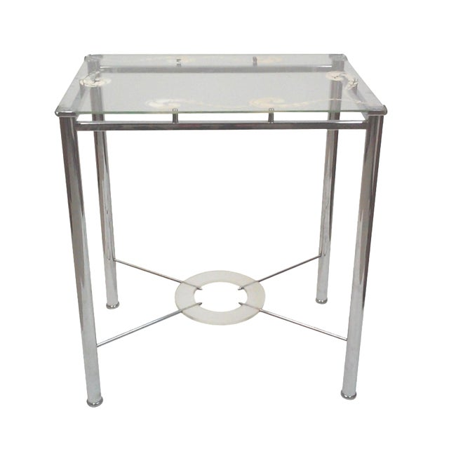 Chrome and Lucite Side Table - Image 1 of 7