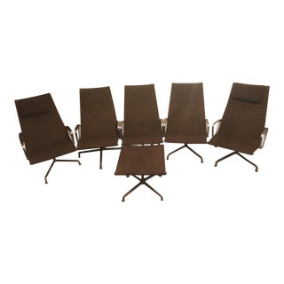Herman Miller Eames Chairs & Ottoman - Set of 6