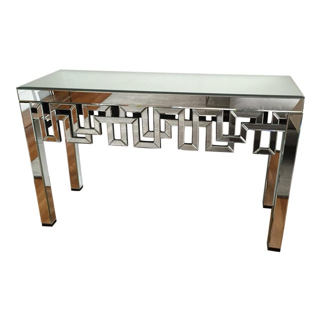 Mirrored Designer Console Table - Image 1 of 7