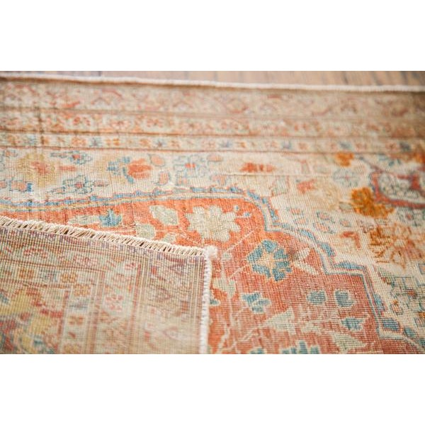 :: Adorable antique silk Tabriz rug mat that has the happiest light colors. Ultra unique and upbeat rug with fully secured...