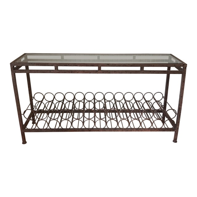 Wrought Iron Wine Rack Console Table Chairish
