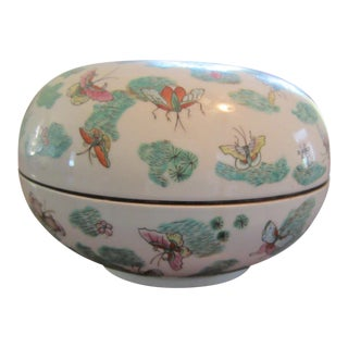 Chinese Butterfly Porcelain Bowl
