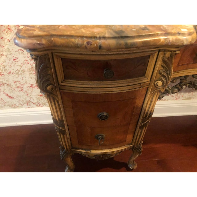 Antique Marble Top Vanity For Sale In West Palm - Image 6 of 12