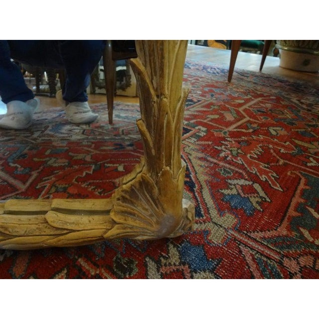 Vintage Dorothy Draper Style Palm Frond Mirror For Sale - Image 9 of 12