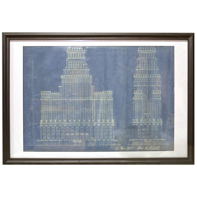 Early 20th Century Blue Print Drawing - Image 1 of 4