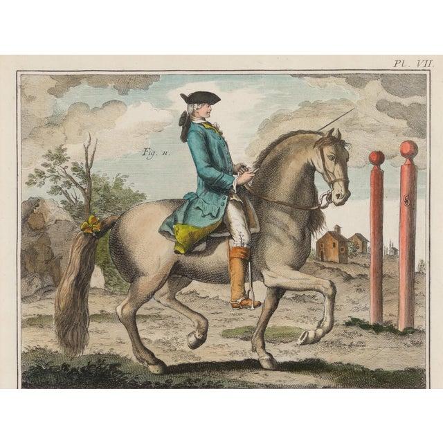 18th Century Antique French Dressage Print