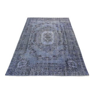 Turkish Overdyed Rug - 6′5″ × 9′9″ For Sale
