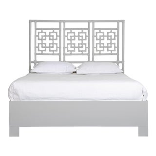 Palm Springs Bed Queen - Light Gray For Sale
