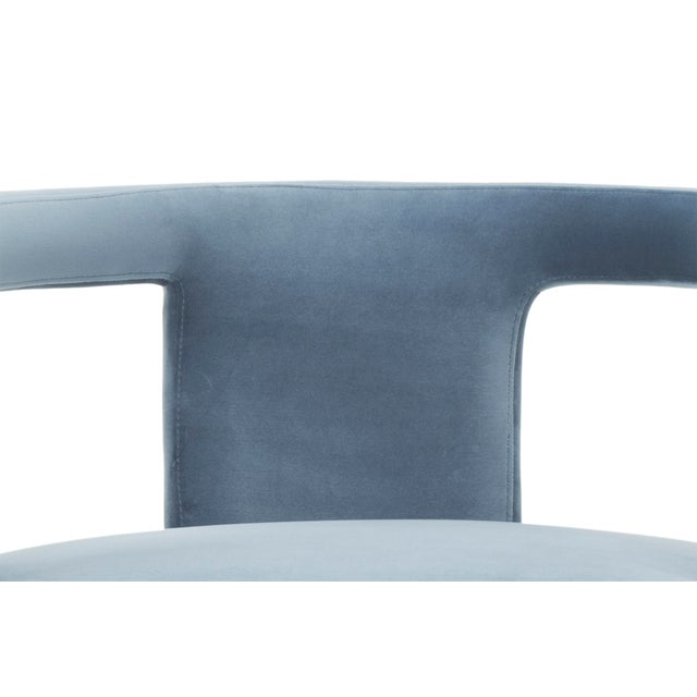 Vicki Accent Chair, Dust Blue For Sale - Image 4 of 6