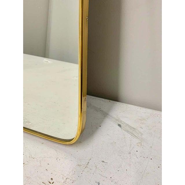 Brass Circa 1950s Italian Brass Frame Mirror, Gio Ponti Attributed For Sale - Image 8 of 12