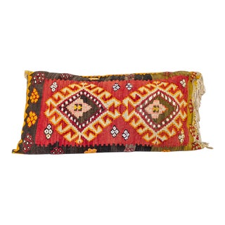 Kilim Lumbar Pillow | Large Tribal Boho For Sale