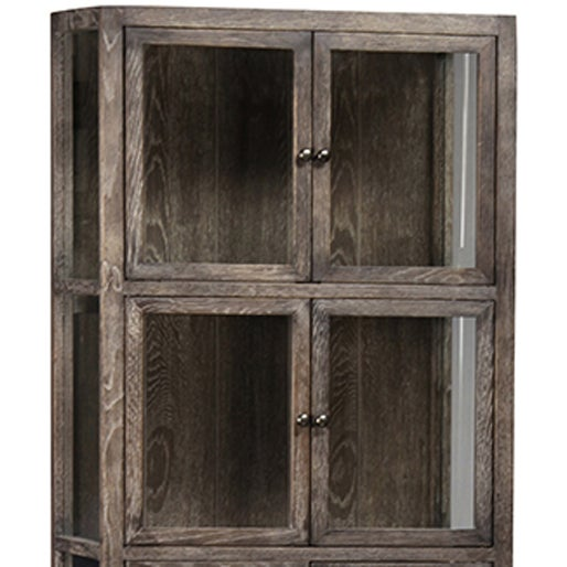 Tall Glass Storage Cabinet on Stand - Image 2 of 2