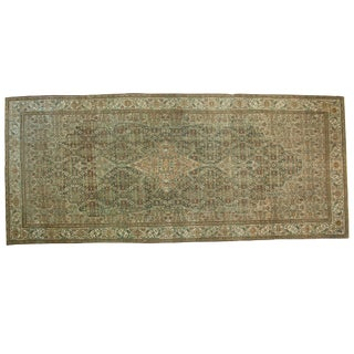 """Vintage Distressed Malayer Carpet - 6'10"""" X 15'10"""" For Sale"""