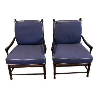Calico Corner Ladderback Reading Chairs - a Pair For Sale