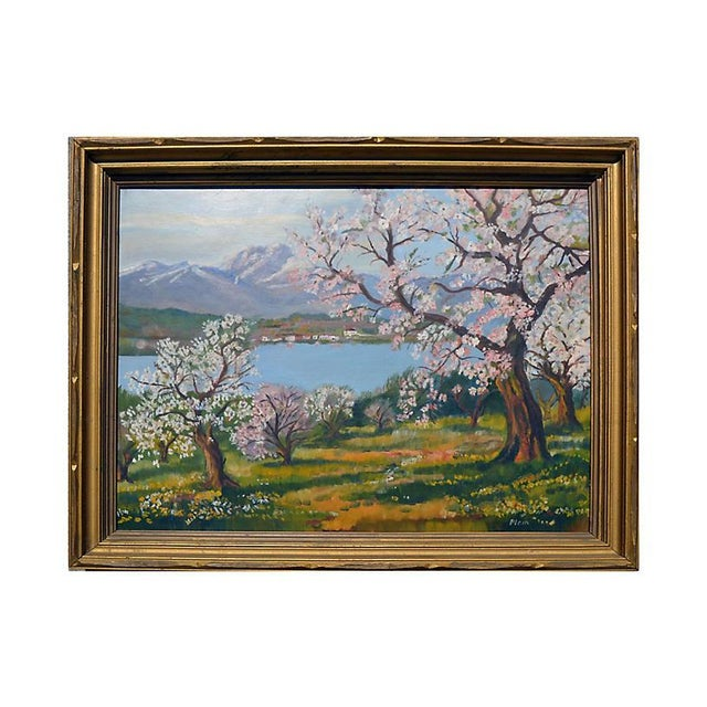 1940s Apple Trees in Bloom For Sale - Image 5 of 5