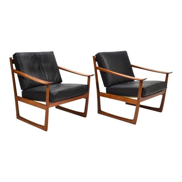 Peter Hvidt & Orla Mølgaard Nielsen Lounge Chairs by France & Son - Image 1 of 10