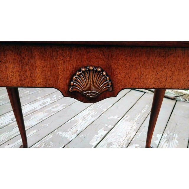 Gold Vintage Traditional Brandt Mahogany Tea Table For Sale - Image 8 of 13