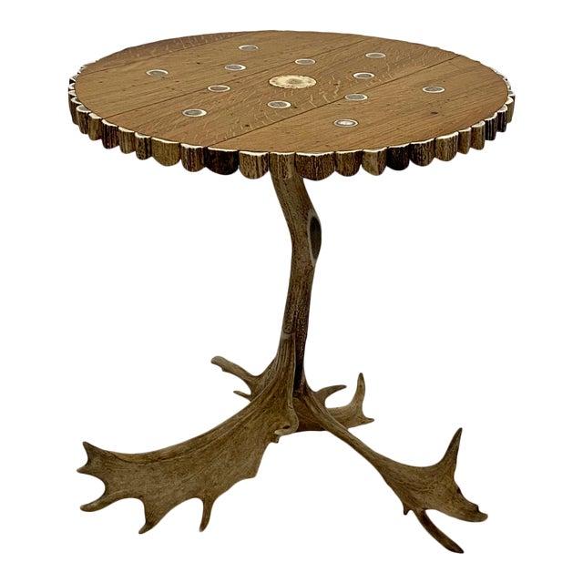 Organic Modern Antler Side Table For Sale